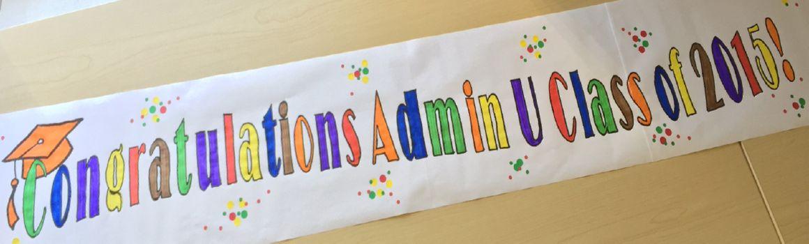 Admin U banner